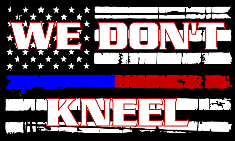 We Don't Kneel Flag Decal - Powercall Sirens LLC