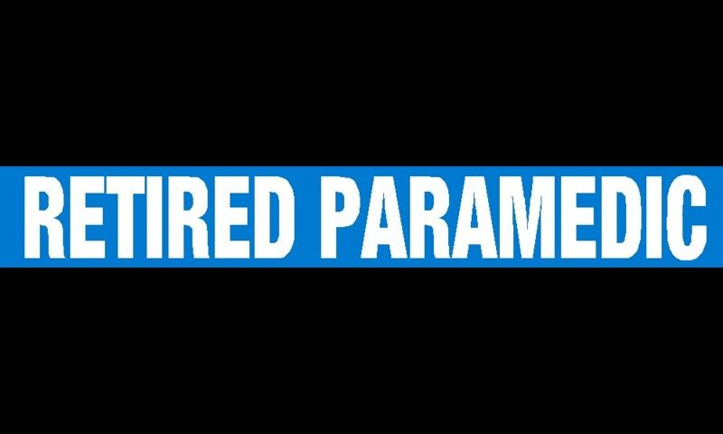 Retired Paramedic Thin Blue Line Decal - Powercall Sirens LLC