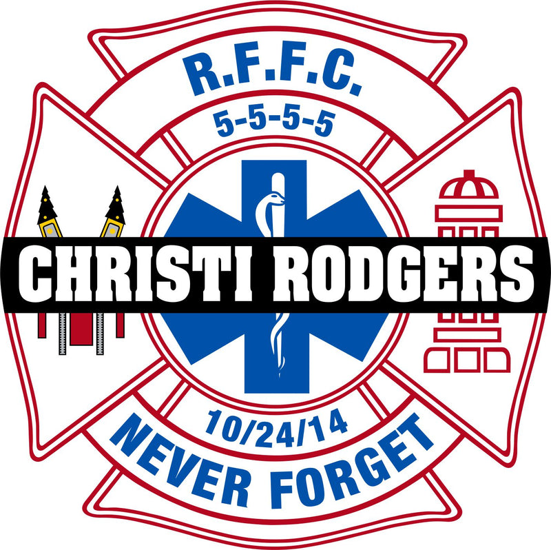 Christi Rodgers EMS Type 2 Customer Decal - Powercall Sirens LLC