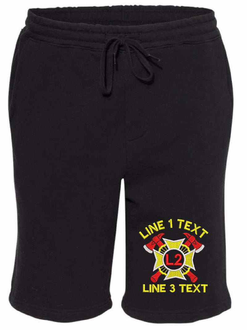 Spike Maltese Custom Embroidered Shorts - Powercall Sirens LLC