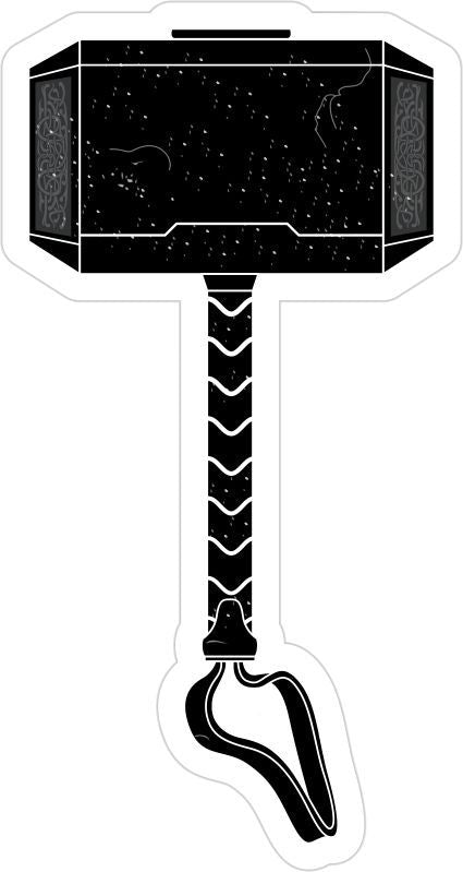 Thor Hammer Helmet/Window Customer Decal - Powercall Sirens LLC