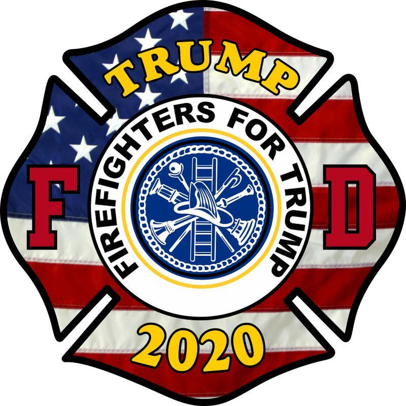 Firefighters for Trump Maltese Customer Decal - Powercall Sirens LLC