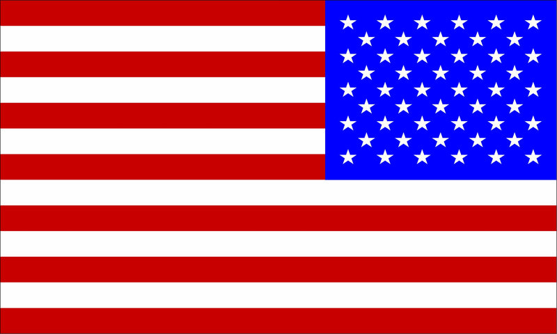 USA Reversed Flag Red/White/Blue Decal - Powercall Sirens LLC
