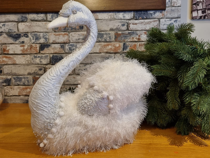 White Feathered Swan  - (Animal)