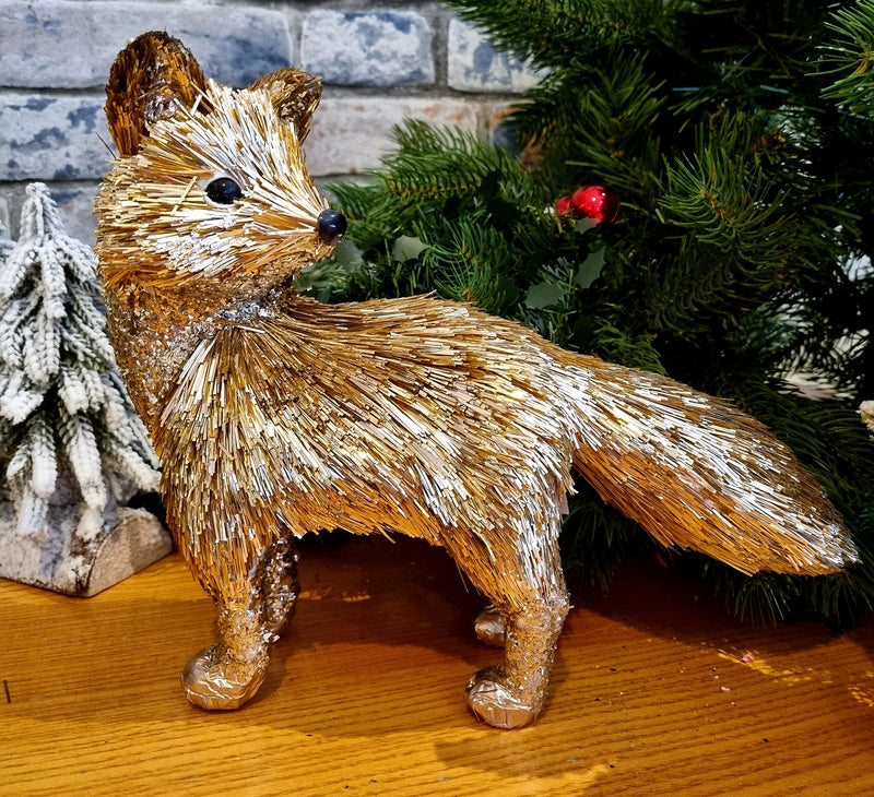 Gold Standing Fox - (Animal)