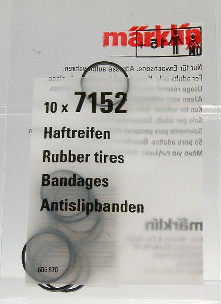 Märklin 7152 H0 escala 1:87 gomas trenes locomotora 10x Rubber tires Bandages