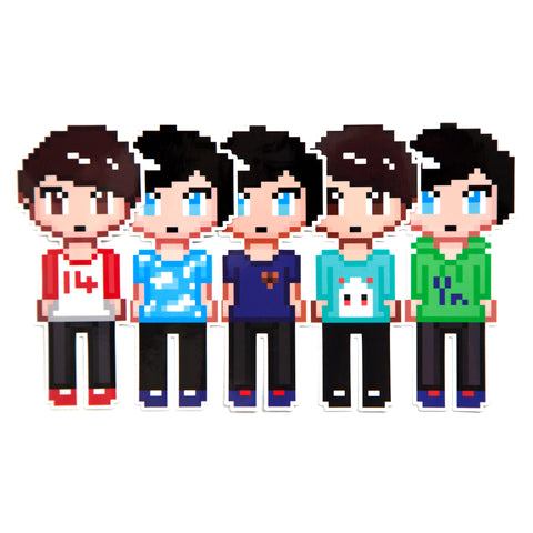 Dan and Phil Pixel Sticker Pack 2