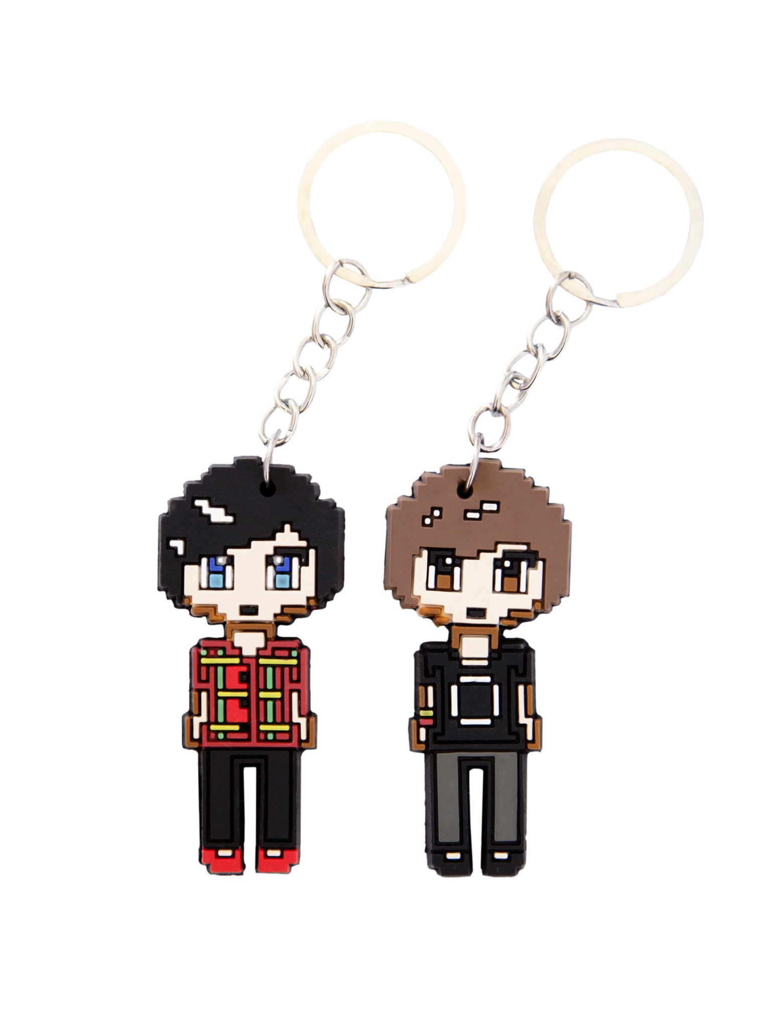 Dan and Phil Pixel Keyring