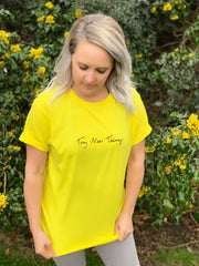 Try New Things Shirt - Yellow