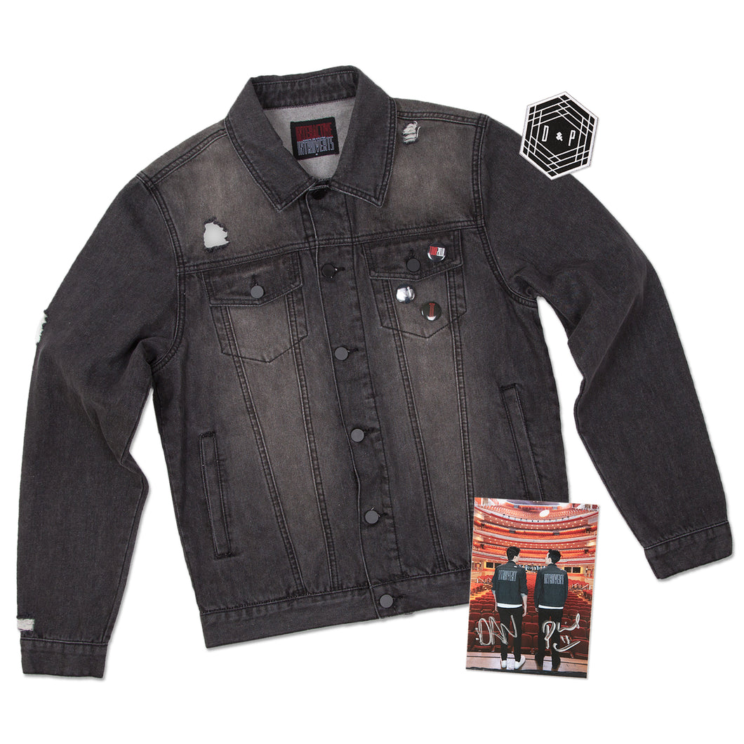 Introvert Denim Jacket + D&P Patch and SIGNED Postcard