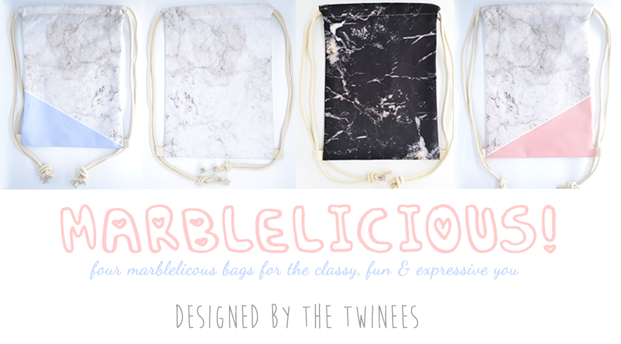 Marblelicious! Drawstring Bag Collection by The Twinees