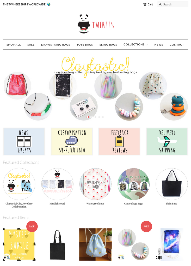 The Twinees Website 2.0 Revamp + Gift Wrapping Service + Welcome Coupon