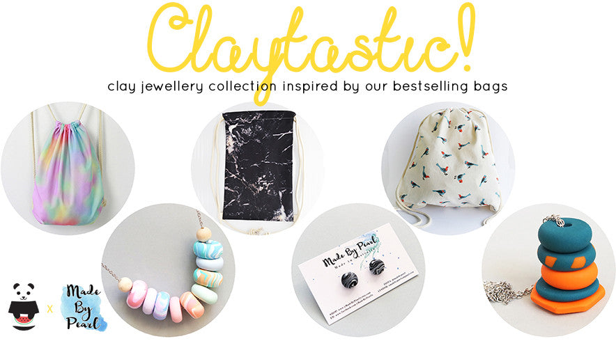 CLAYTASTIC! Clay Jewellery and Bag Bundles: The Twinees' First Collaboration