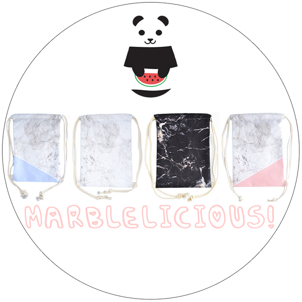 Marblelicious! Drawstring Bags