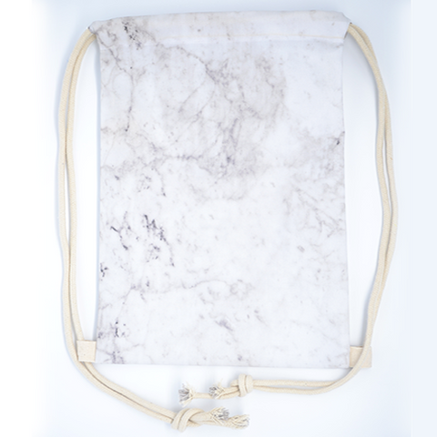 White Marble Drawstring Bag - The Twinees
