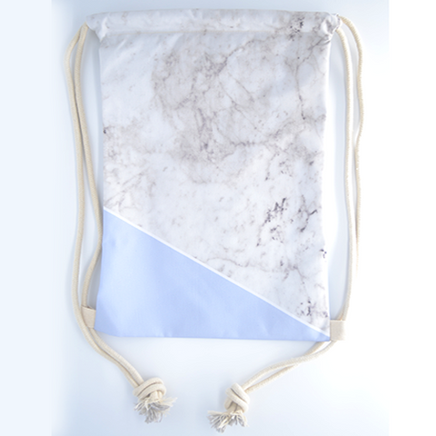 Blue Marblelicious Drawstring Bag - The Twinees