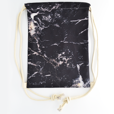 Black Marble Drawstring Bag - The Twinees