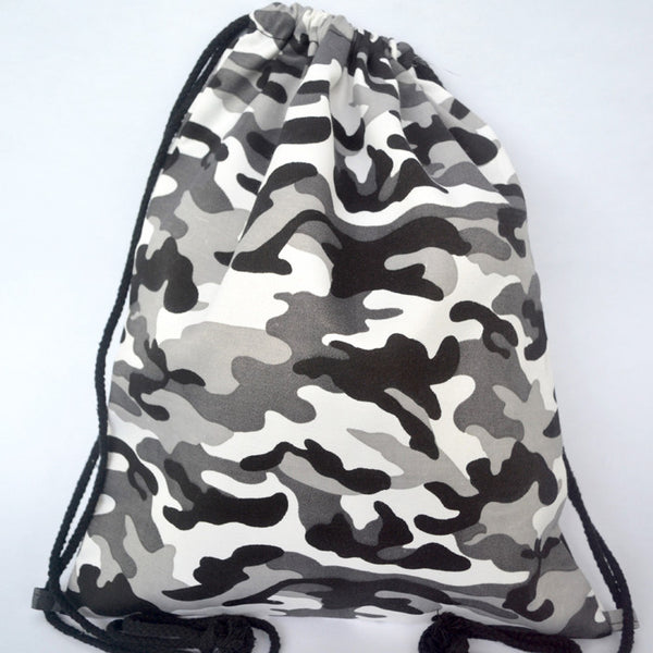 Military Style Camouflage Grey Bundle (Bag + Necklace) - The Twinees