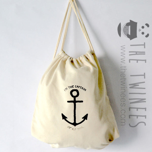 Captain Of My Soul Drawstring Bag - The Twinees