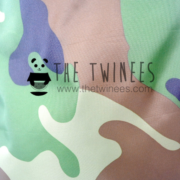 Camo Polyester Drawstring Bag - The Twinees