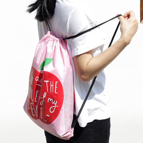 You Are The Apple of My Eye Drawstring Bag - The Twinees