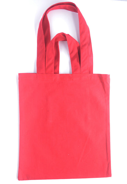 Red Canvas Carry Tote Bag (with 2 handles) - The Twinees