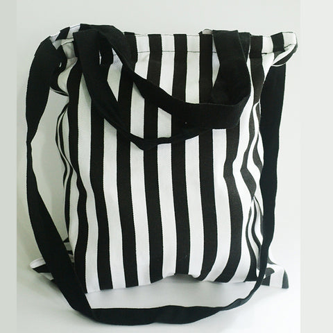 B&W Stripes Long Sling Bag - The Twinees