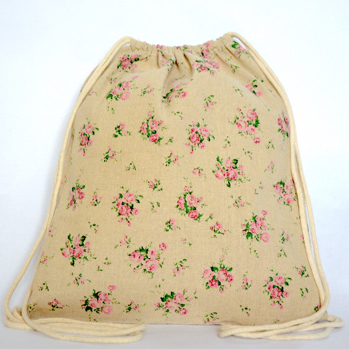 Vintage Floral Drawstring Bag - The Twinees