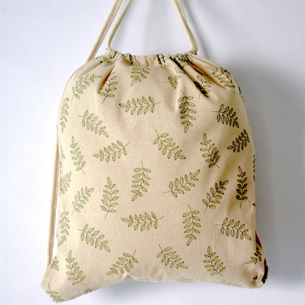 Spring Leaves Drawstring Bag - The Twinees