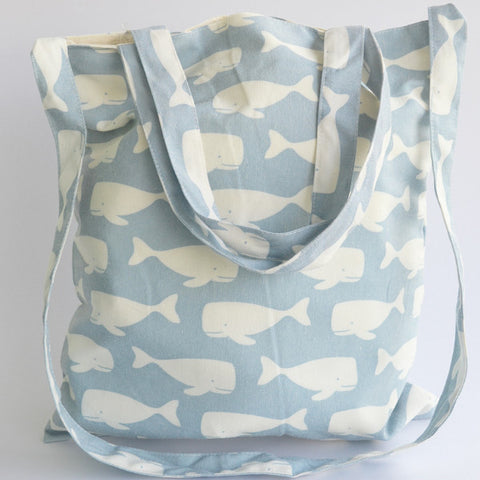 Light Blue Swimming Whales Sling Bag - The Twinees