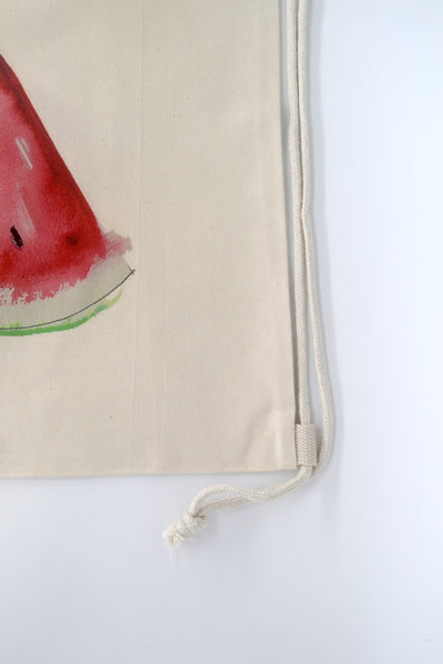 Watercolour Summer Melon Drawstring Bag