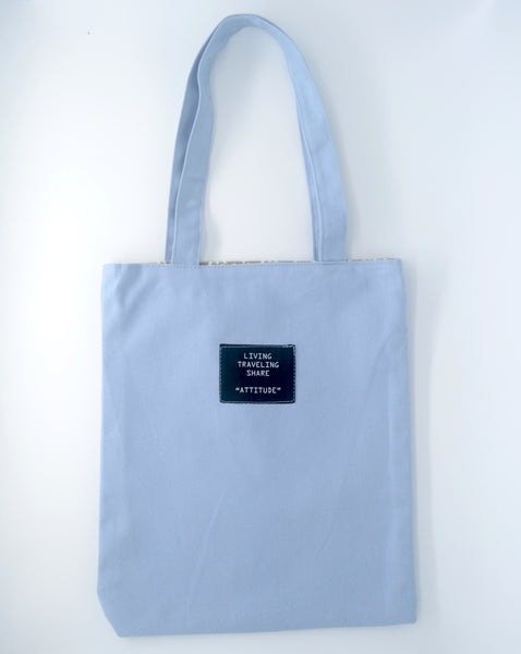 Interchangeable Baby Blue Tote Bag