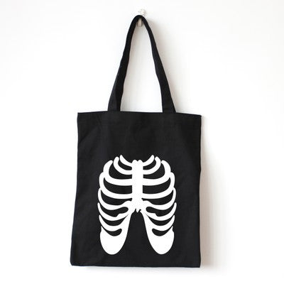 Skeleton Ribs Tote Bag - The Twinees