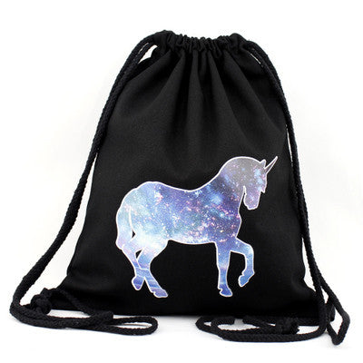 Galactical Unicorn Drawstring Bag
