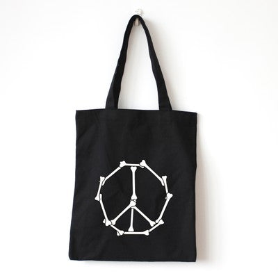 Skeletal Peace Tote Bag - The Twinees