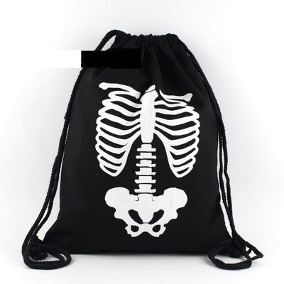 Skeleton Body Drawstring Bag - The Twinees