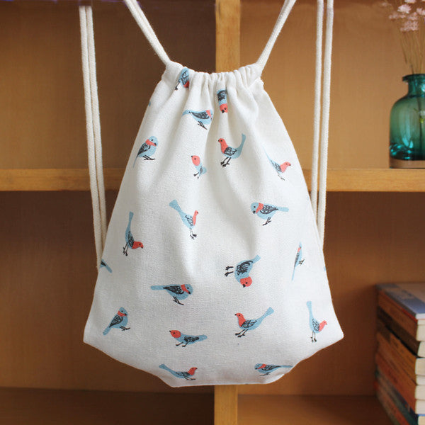 Fly Free Birds Drawstring Bag - The Twinees