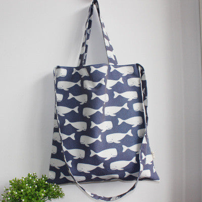 Dark Blue Swimming Whales Sling Bag - The Twinees