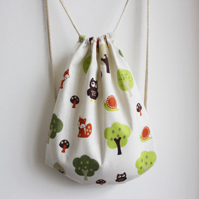 Friends Of The Forest Drawstring Bag - The Twinees