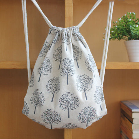 Trees of Shelter Drawstring Bag - The Twinees
