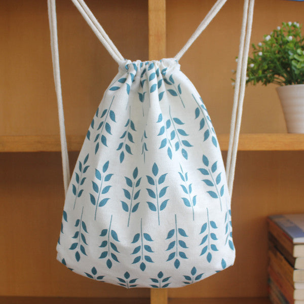 Leaves of Spring Drawstring Bag - The Twinees