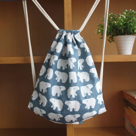 Mr Polar Bear Drawstring Bag - The Twinees