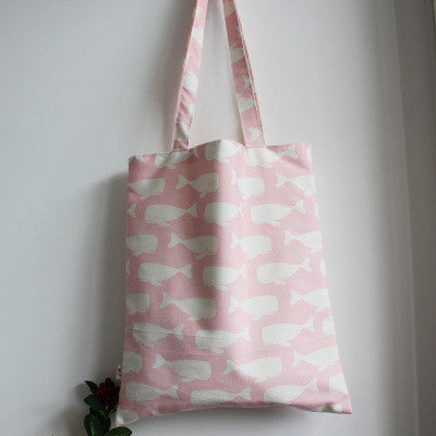 Pink Swimming Whales Tote Bag - The Twinees