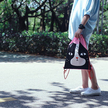 Mister Meow Drawstring Bag - The Twinees