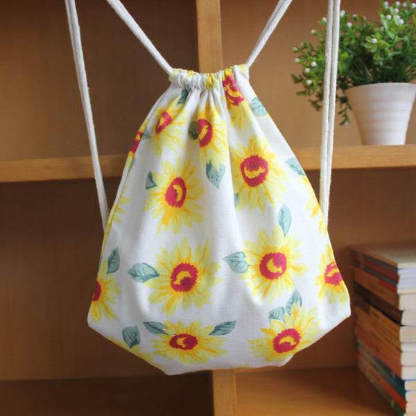 You Are My Sunshine Sunflower Drawstring Bag - The Twinees