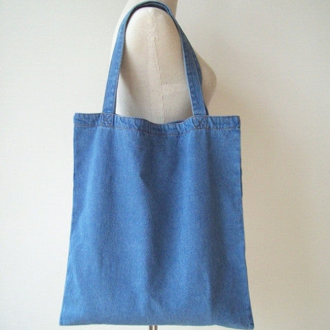 Light Blue Denim Tote Bag - The Twinees