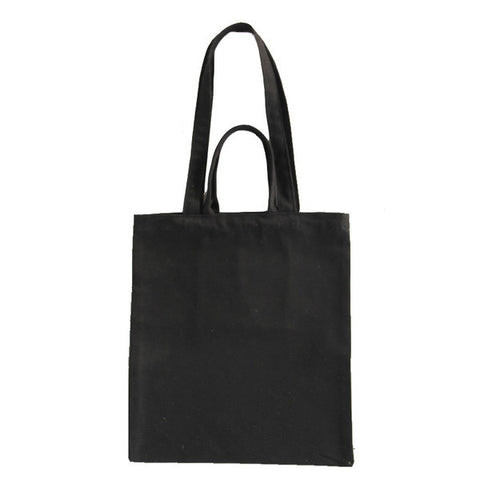 Black Canvas Carry Tote Bag (with 2 handles) - The Twinees