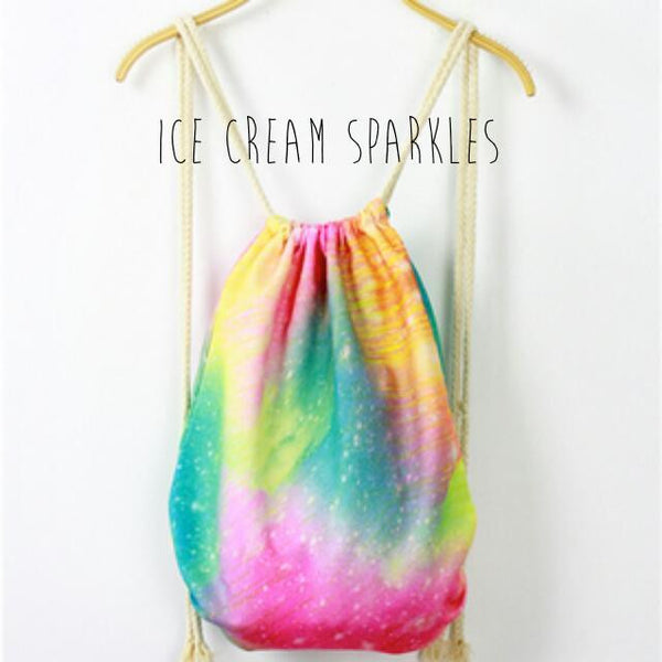 Ice Cream Sparkles Paddlepop Drawstring Bag - The Twinees