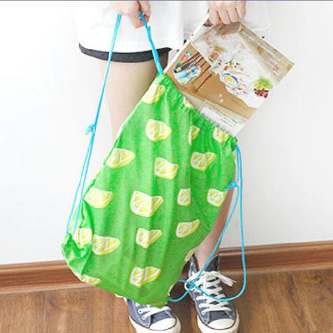 Lemon Drawstring Bag - The Twinees