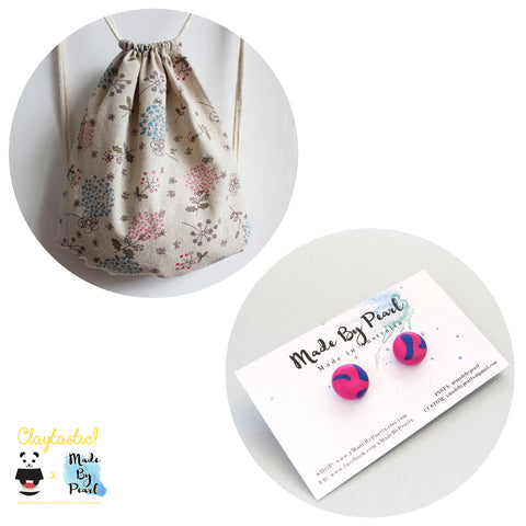 Dandelions of the Sky Bundle (Bag + Earrings) - The Twinees